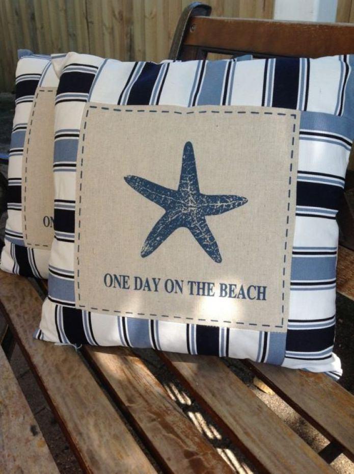 подушки с морской звездой