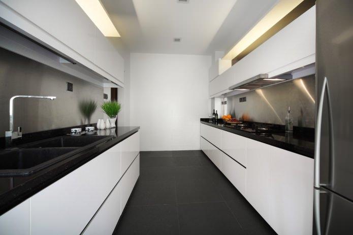 матовая плитка в кухне
