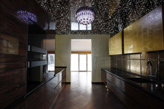 Черный потолок в интерьере: 70 лучших фото и современных идей