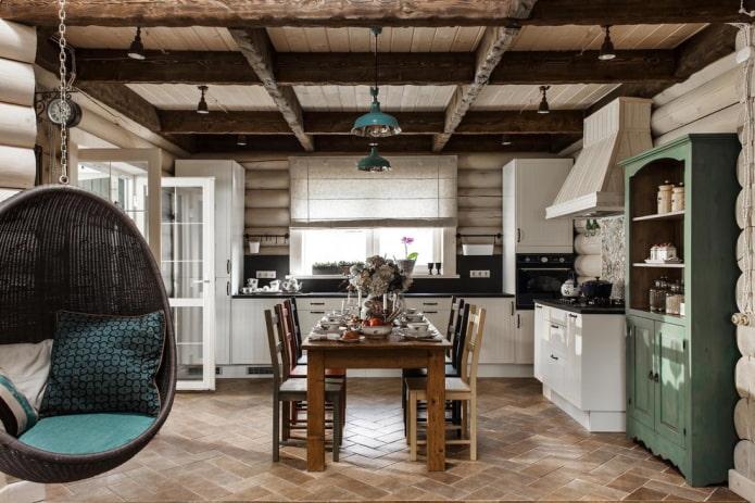 балки в кухне
