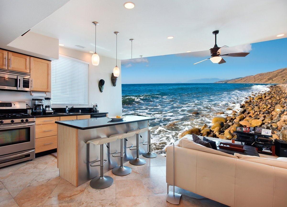 картинки кухня с фотообоями дизайн фото