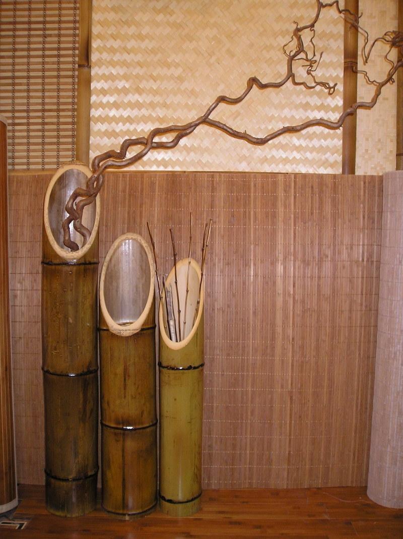 наиболее поделки из бамбука часы фото розы очень красивы