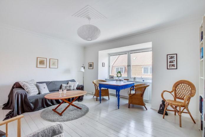 Белый ламинат в гостиной, кухни, спальни, детской и прихожей (60 избранных фото)