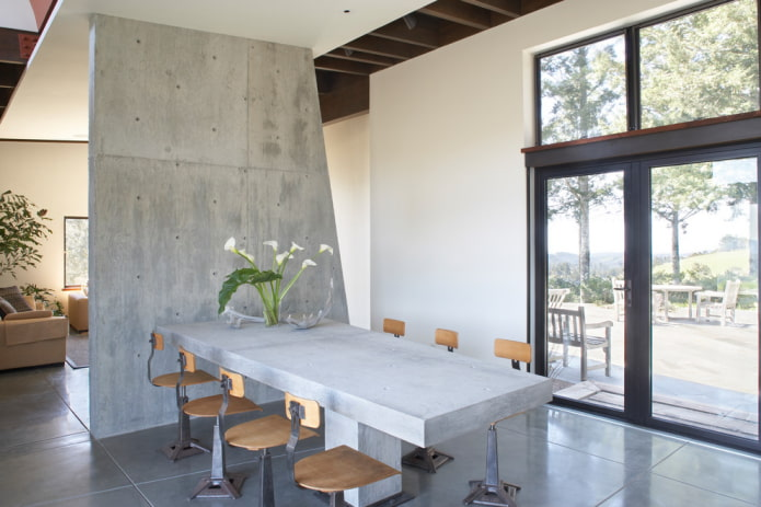 бетонная перегородка
