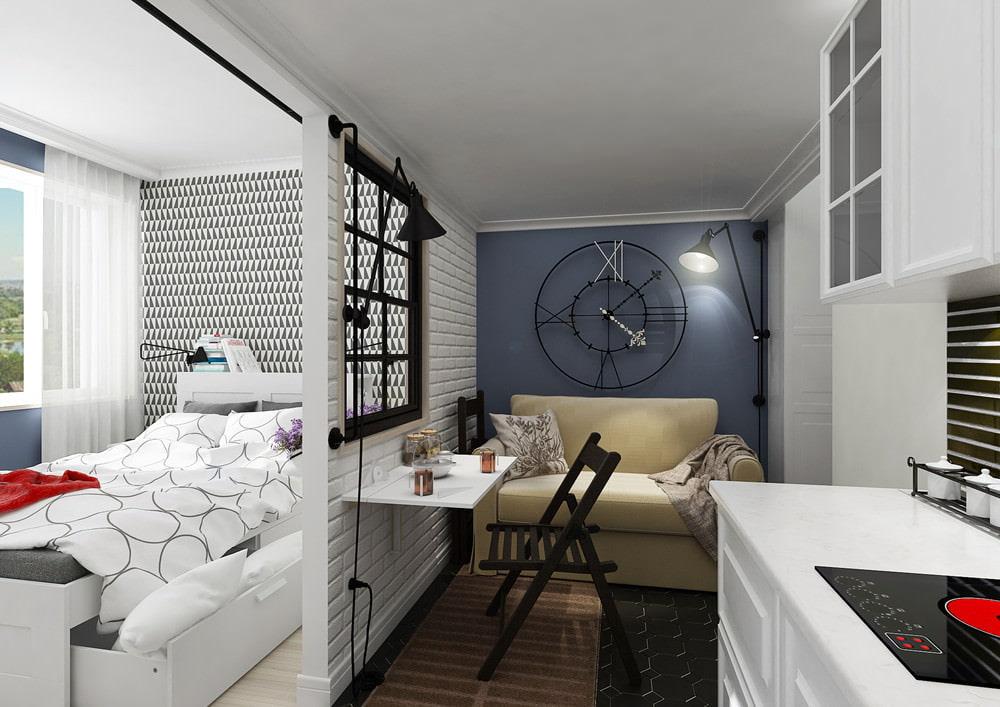 Дизайн маленьких студий 20 кв.м фото