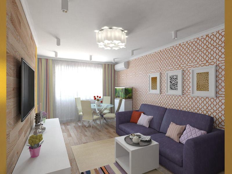 Дизайн 2 комнатной квартиры 44 кв м в панельном доме
