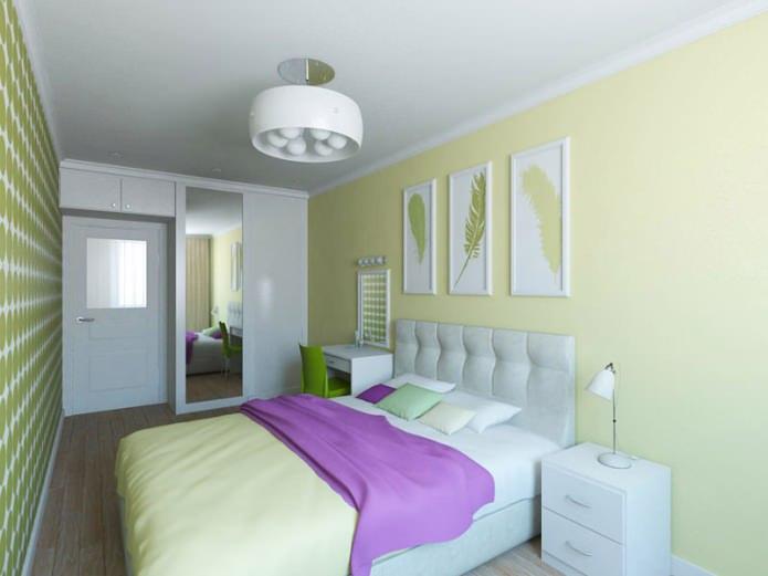 спальня в дизайн-проекте двухкомнатной квартиры-хрущевки