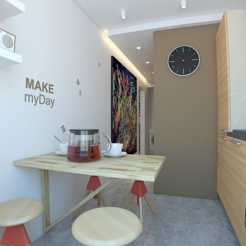 Дизайн однокомнатной квартиры 33 кв.м в панельном доме фото