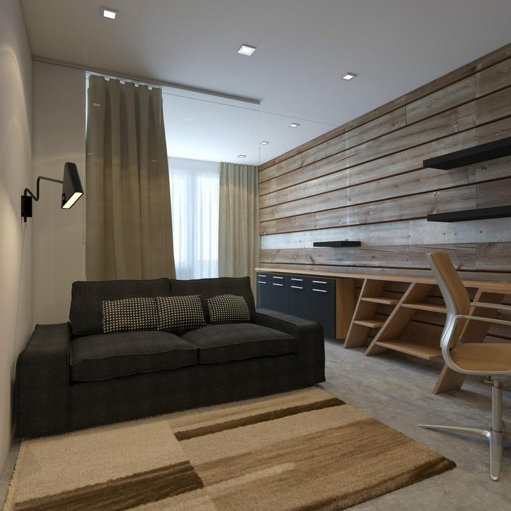 Интересный дизайн маленькой квартирыстудии в Японии  37