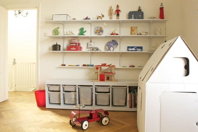 органайзеры для хранения игрушек в детской