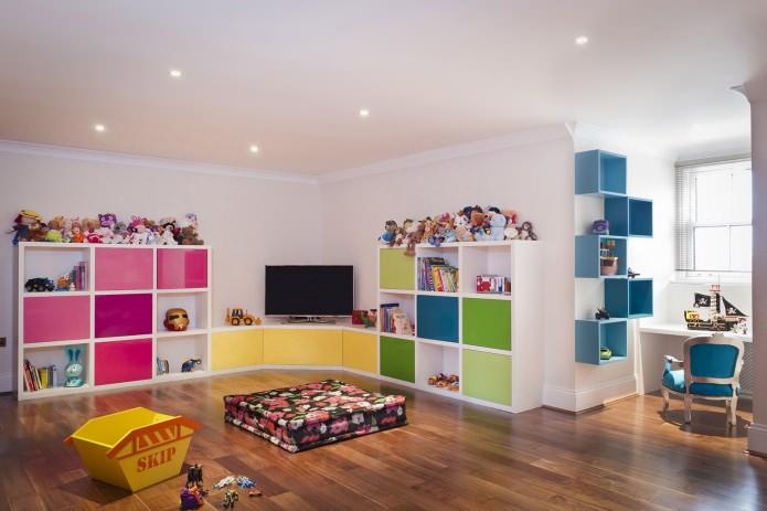 идеи для хранения игрушек в детской
