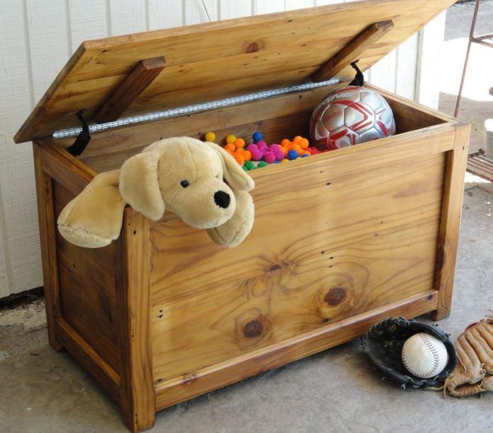 сундук для хранения игрушек в детской комнате