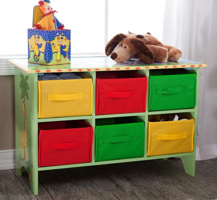 Хранение игрушек в комнате ребенка