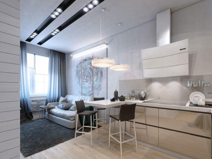 Дизайн маленькой квартиры 35 кв. м.
