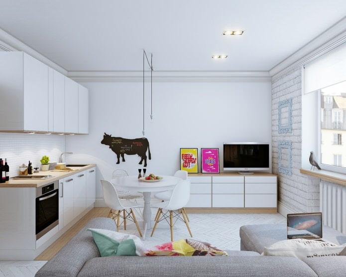 Дизайн интерьера маленькой квартиры 24 кв. м.