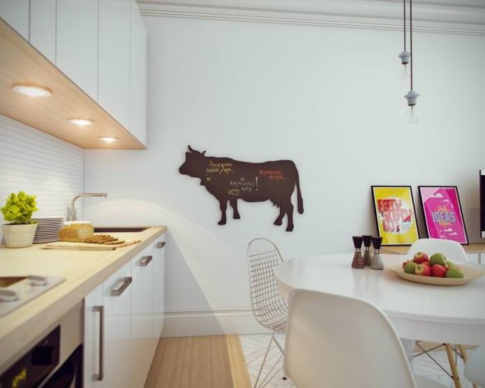 кухня в дизайне интерьера маленькой квартиры-студии 24 кв. м.