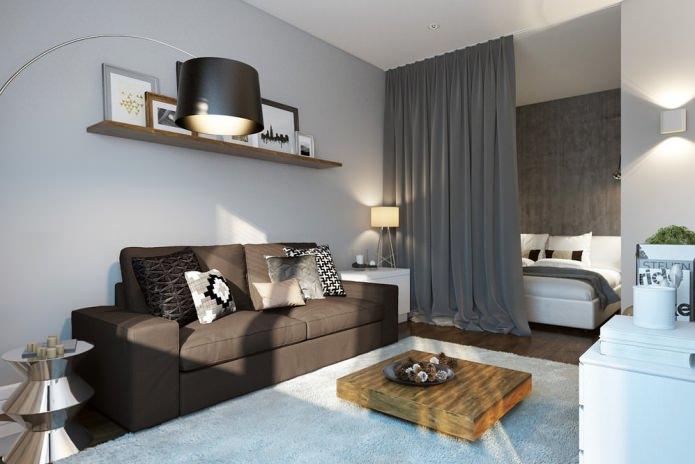 Дизайн небольшой современной квартиры 30 к. м.