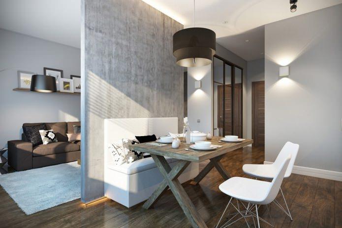 Современной дизайн маленькой квартиры 30 кв. м.