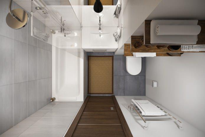 интерьер санузла в квартире-студии