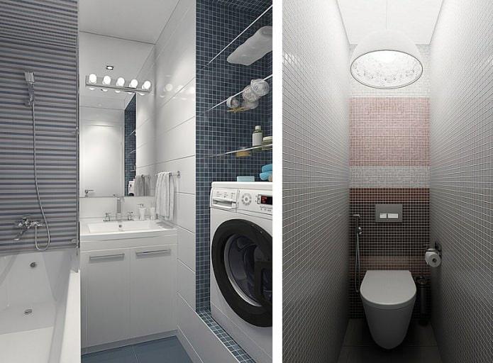 ванная в дизайне малогабаритной 3-комнатной квартиры