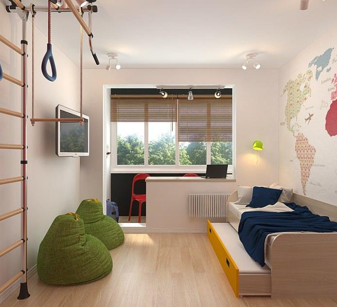 Детская в дизайне малогабаритной 3-комнатной квартиры