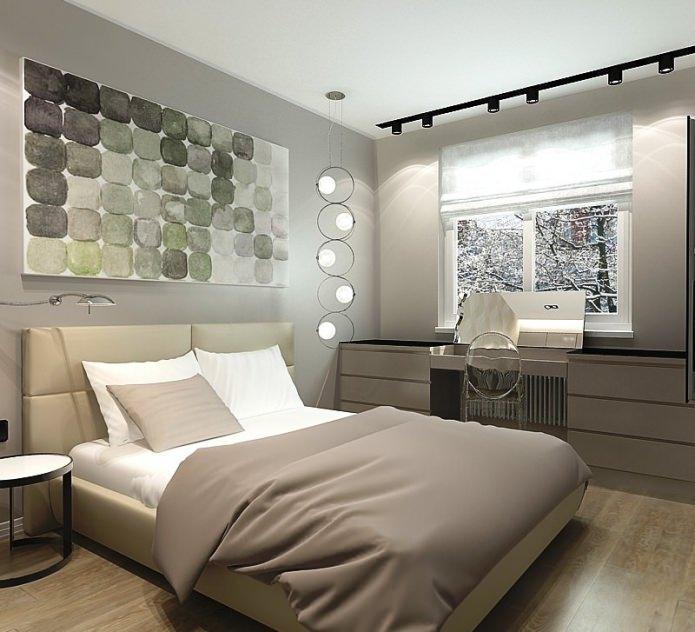 спальня в дизайне малогабаритной 3-комнатной квартиры