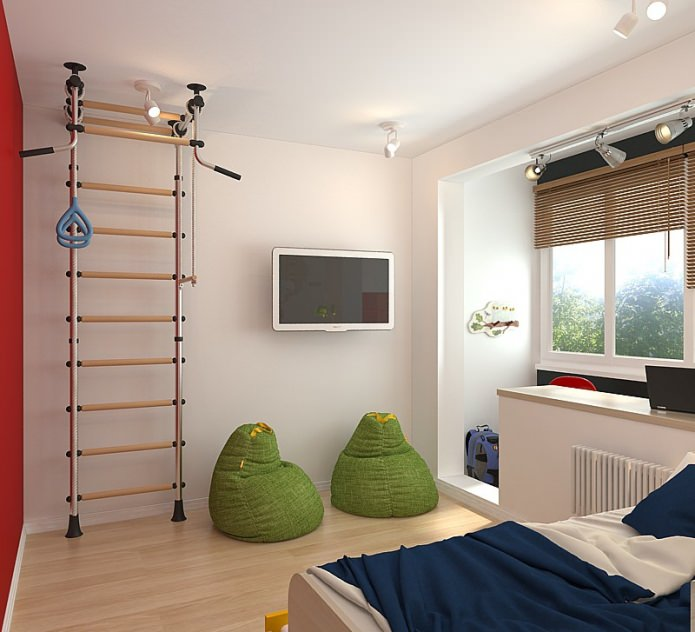 детская в дизайне квартиры 63 кв. м.