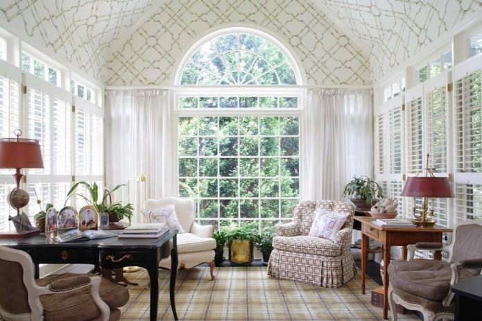 фото штор на арочные окна
