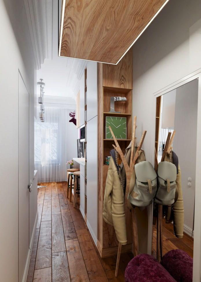 прихожая в интерьере квартиры 15 кв. м.