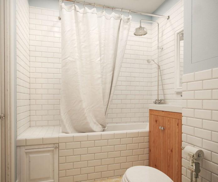 ванная комната в дизайне однокомнатной квартиры 36 кв. м.