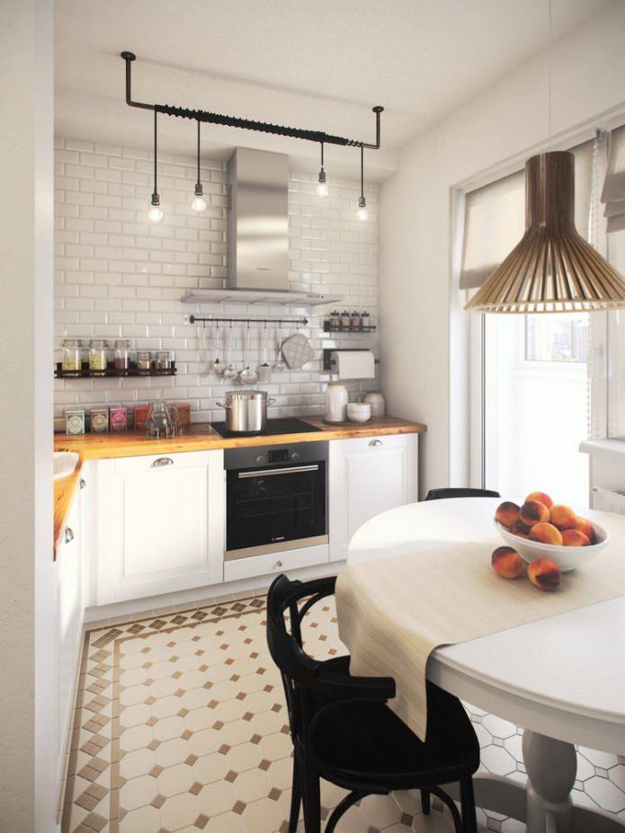 кухня в дизайне квартиры площадью 36 кв. м.