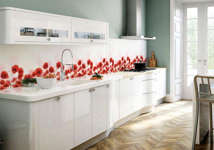 интерьер кухни со скинали