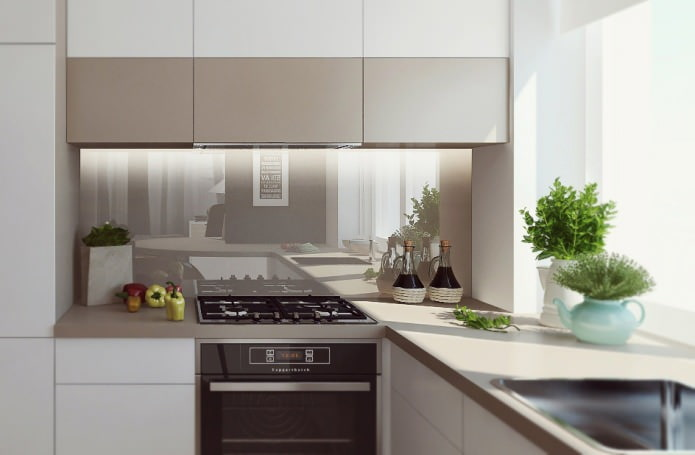 Кухни со скинали: особенности, фото