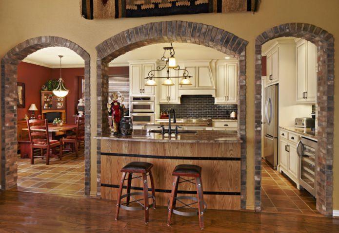 Декоративные межкомнатные арки: фото, обзор материалов, дизайн