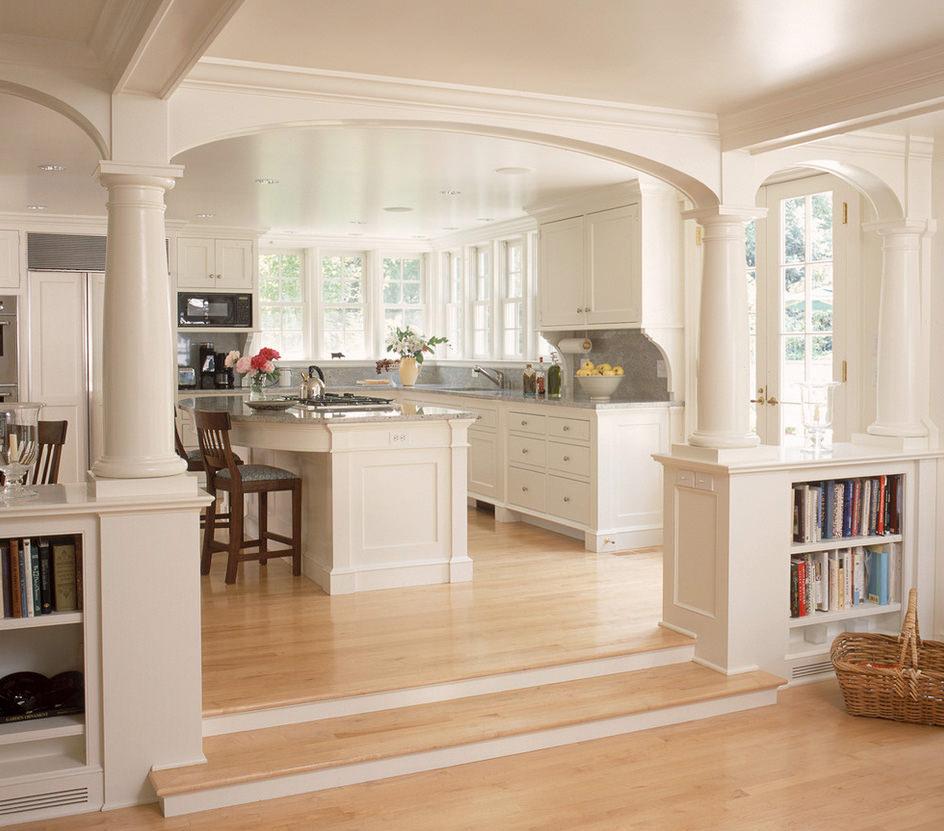 Фото дизайн кухни с аркой