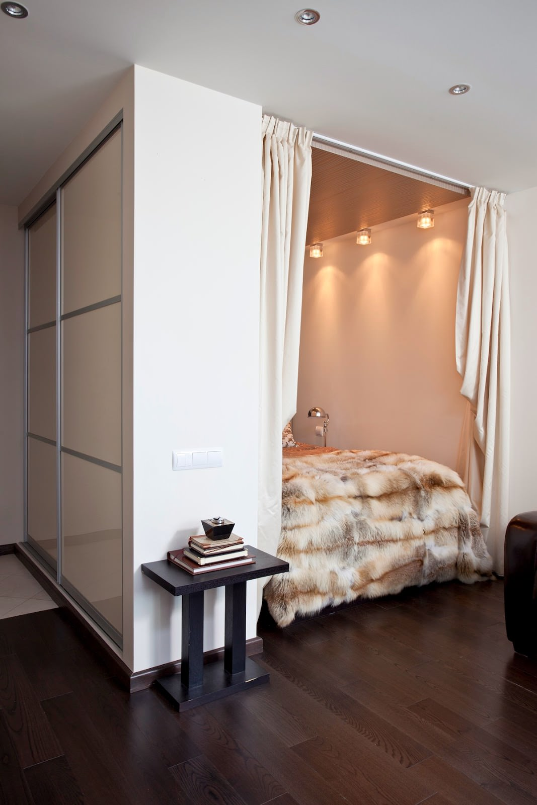 Интерьер 1 комнатной квартиры студии 33 кв.м фото