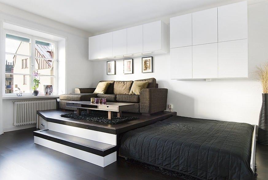Дизайн кровати с подиумом