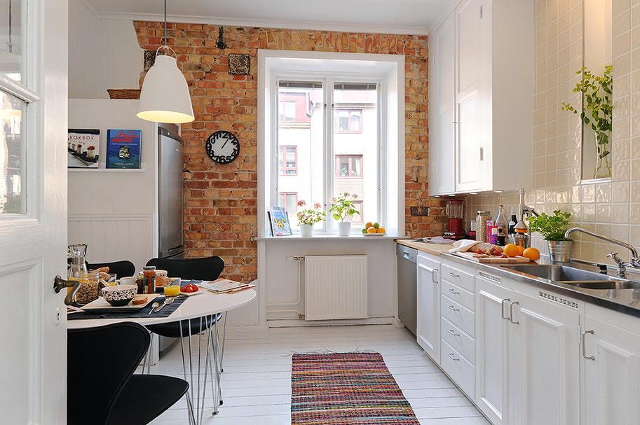 Декоративный кирпич в интерьере фото кухня