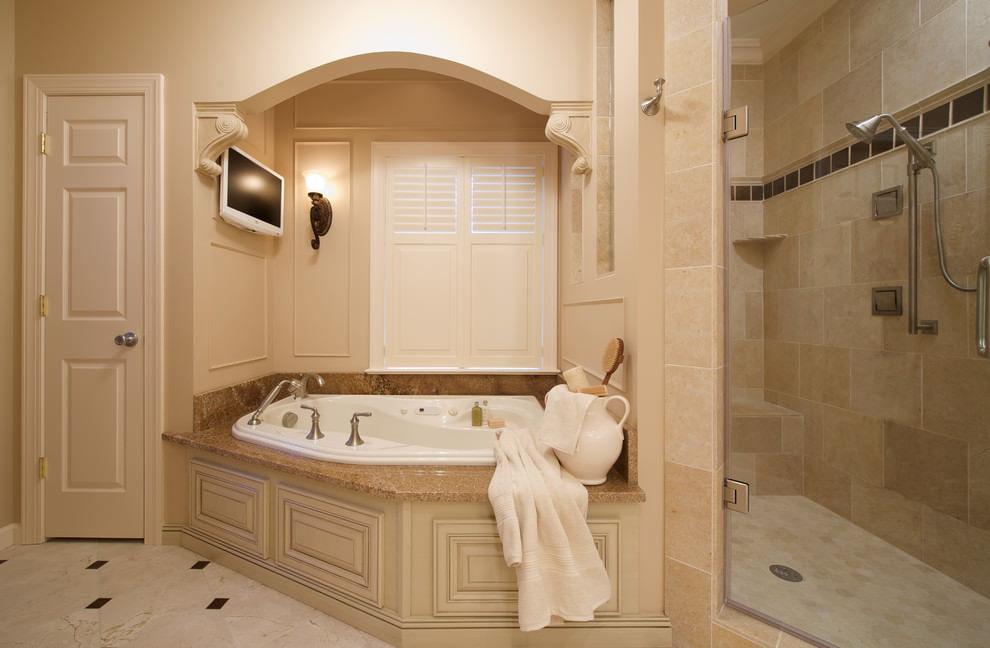 Ванная комната в бежевых тонах особенности фото
