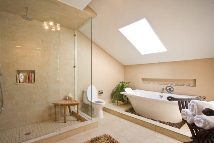 Ванная комната в бежевых тонах: особенности, фото