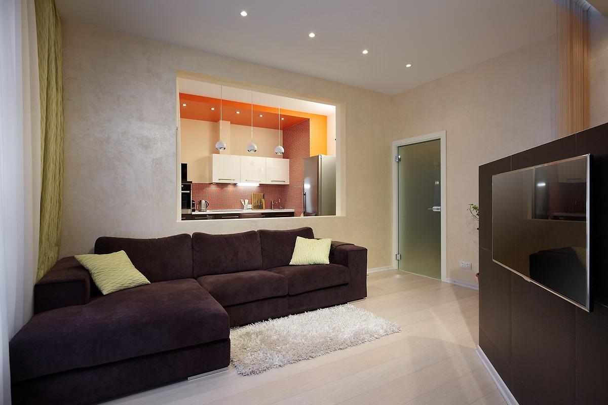 Дизайн интерьера проходной комнаты