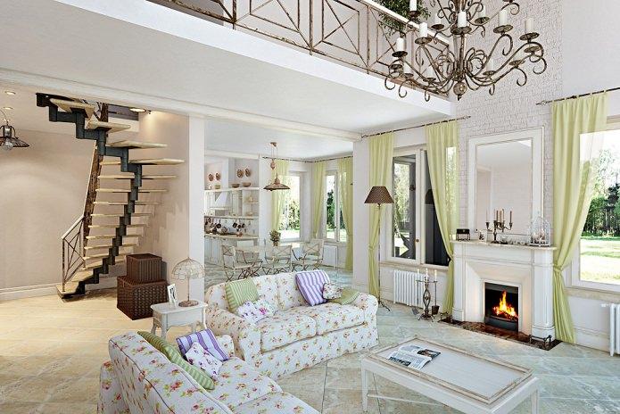 Дизайн гостиной в стиле прованс: особенности, фото