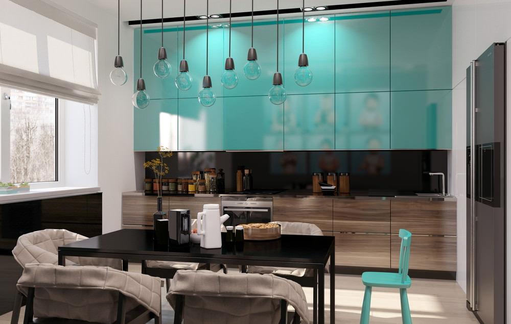 кухни бирюзовые фото дизайн