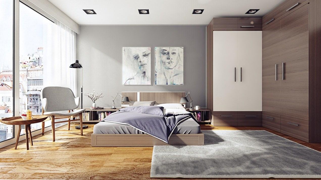 Дизайн комната в сером цвете фото