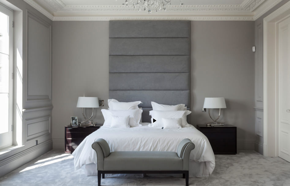 Спальни в серых цветах фото