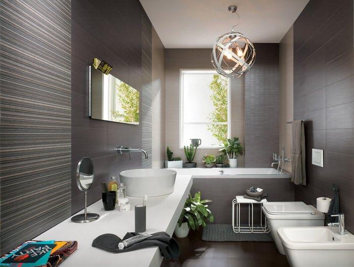 Дизайн ванной в сером цвете: особенности оформления, фото