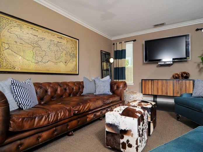 Дизайн гостиной в английском стиле: особенности, фото