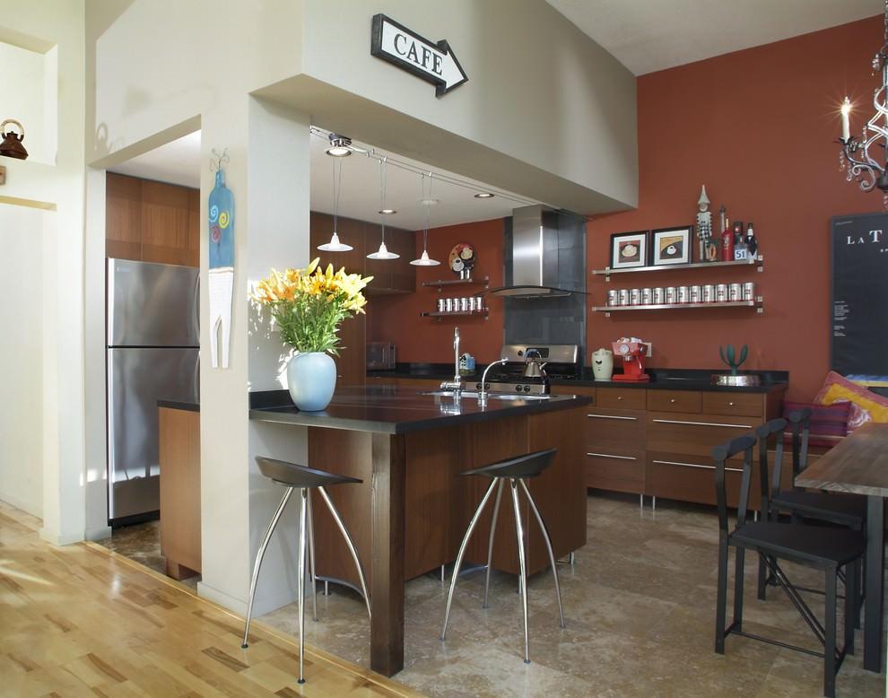 Дизайн кухни в стиле кофейни фото
