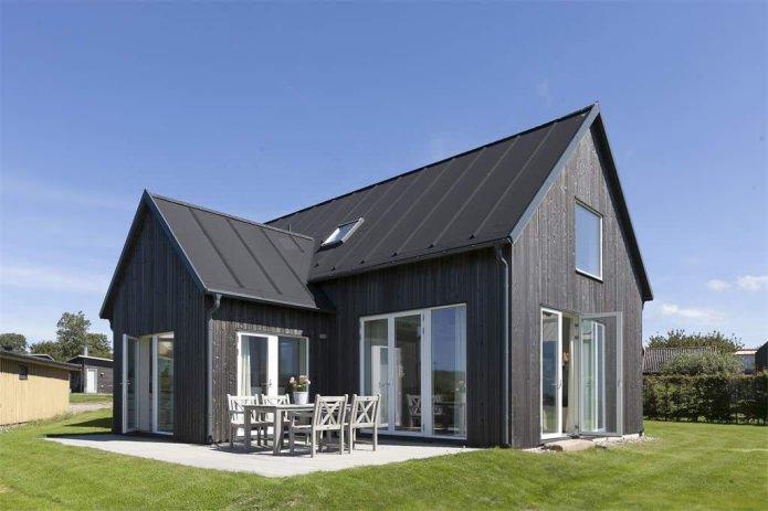 деревянный фасад дома в скандинавском стиле