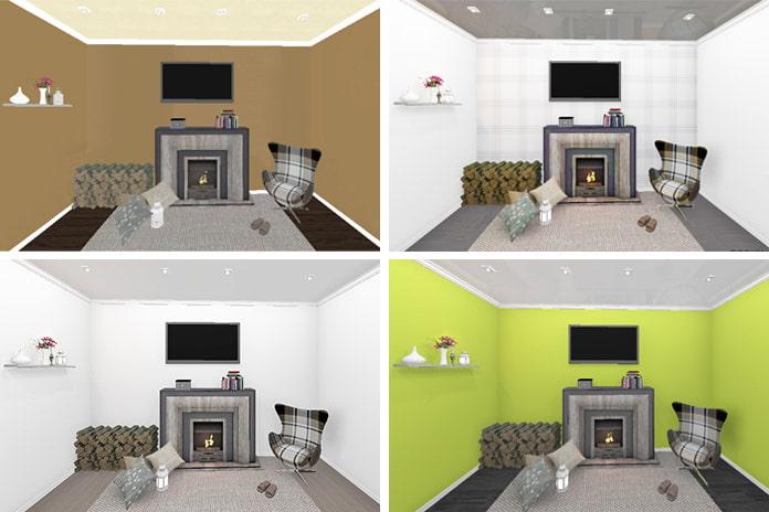 Подобрать цветовую гааму для покраски потолка стен пола оклеечная гидроизоляция колодцев материалом гидротекс